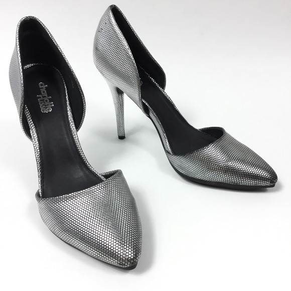 e217b528b4c Charlotte Russe Shoes - CHARLOTTE RUSSE CLARICE SILVER O DORSEY PUMPS